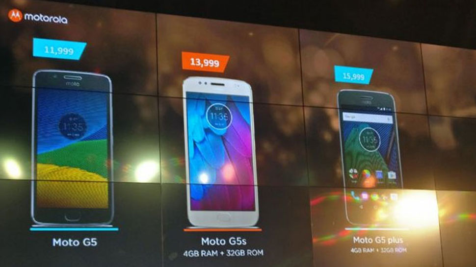 Motorola Moto G5S,  G5S Plus and Moto Z2 Play