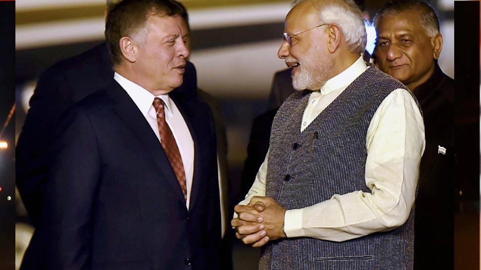 King of Jordan Abdullah II Bin Al- Hussein is in India for three days