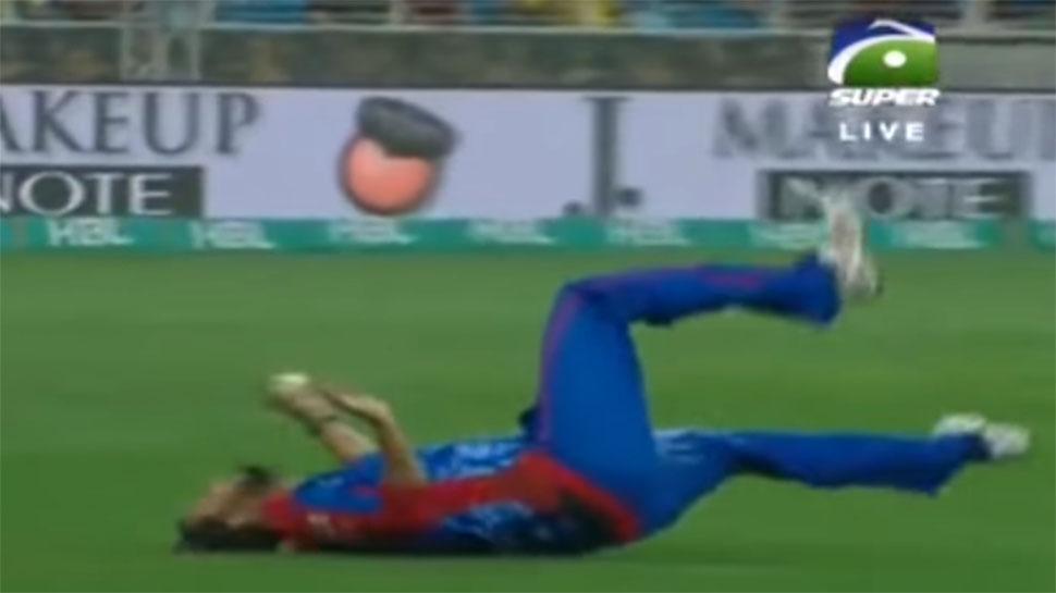 VIDEO : પાકિસ્તાનના આ ખેલાડીએ લીધો શાનદાર કેચ, થઈ ઈજા તો જવુ પડ્યું હોસ્પિટલ