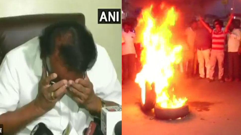 ટિકિટ વહેંચણીના મામલે BJPમાં ઘમાસાણ, મીડિયા સામે પોક મોકીને રોયા નેતા