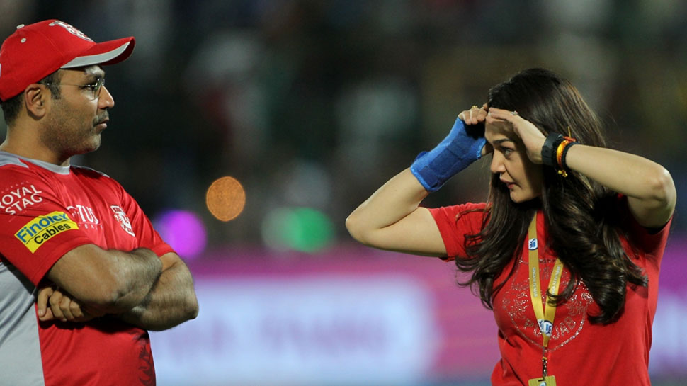 Preity annoyed with sehwag