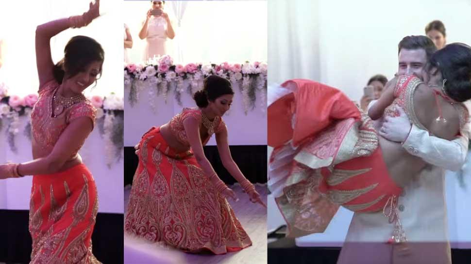 Video : ફિરંગી દુલ્હને લગ્ન પર આપી એવી Surprise, દુલ્હાએ કર્યું ન ધાર્યું હોય એવું