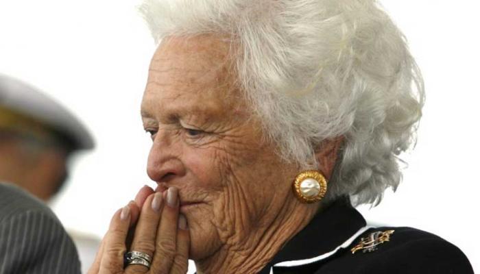 અમેરિકાની પૂર્વ ફર્સ્ટ લેડી બારબરા બુશનું 92 વર્ષની વયે નિધન