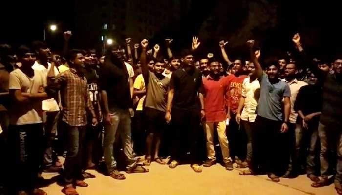 જૂનાગઢની GMERS મેડિકલ કોલેજના વિદ્યાર્થીઓ મોડી રાત્રે હડતાળ પર ઉતર્યા