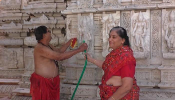 7 નદીઓના જળથી ભક્તોએ સાફ કર્યું આખુ અંબાજી મંદિર, કરી પ્રક્ષાલન વિધિ