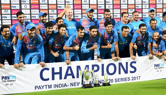 நியூசி.க்கு எதிரான டி20 தொடர்: முதல் முறையாக கைப்பற்றியது இந்தியா