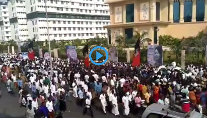 வீடியோ- ஜெயலலிதா நினைவு தினம்: முதல்வர் தலைமையில் அமைதி ஊர்வலம்