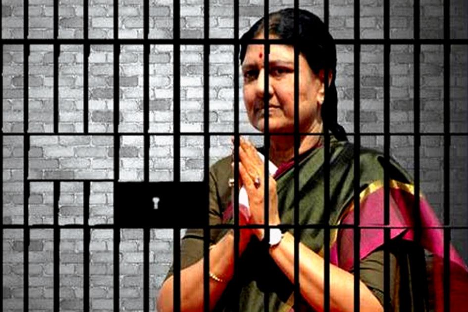 Sasikala went to jail