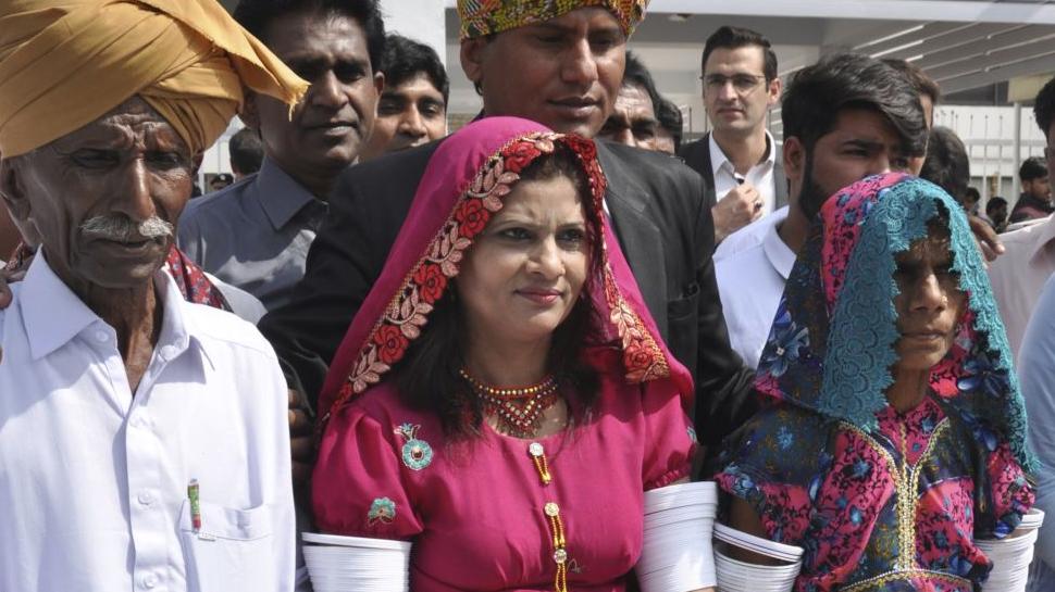 பாகிஸ்தான் செனட் அவையில் முதல் இந்து தலித் பெண்!