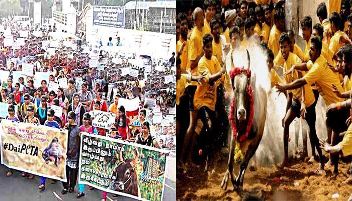 ஜல்லிக்கட்டு: மதுரையில் மாணவ, மாணவிகள் போராட்டம்