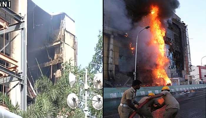 தி.நகர் சென்னை சில்க்ஸ் கட்டடத்தின் ஒரு பகுதி இடிந்தது
