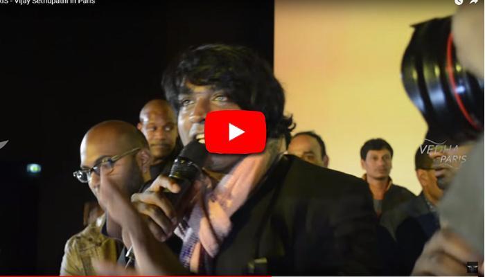 வீடியோ: பாரிஸில் ரசிகர்களுடன் விஜய்சேதுபதி!