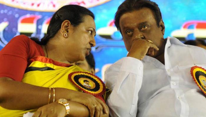 ஆளுநர் மாளிகை முற்றுக்கை: விஜயகாந்த், பிரேமலதா கைது