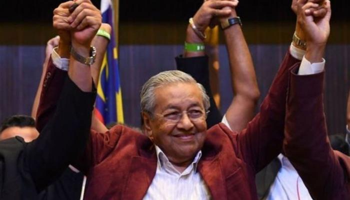 மலேசியா பொது தேர்தல்: எதிர்கட்சி வேட்பாளர் மஹத்திர் மொஹம்மத் வெற்றி