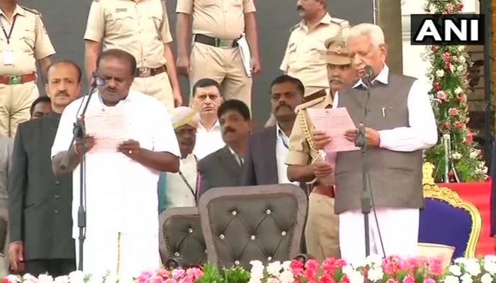 கர்நாட்டக முதல்வராக பதவியேற்றார் HD குமாரசாமி!