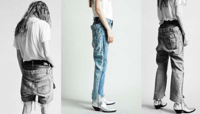இணையத்தை கலக்கும் இரட்டை இடுப்பு 'Double denim' Jeans!