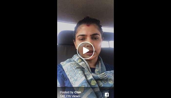 #MeToo விவகாரம்: பேஸ்புக் நேரலையில் மனம் திறந்த பாடகி சின்மயி!