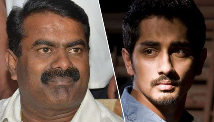 #MeToo இது புரியல? வெக்கக்கேடு என சீமானை விமர்சித்த நடிகர் சித்தார்த்