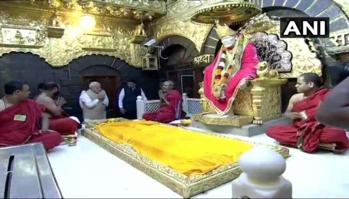 షిర్డీ సాయిబాబాను దర్శించుకున్న ప్రధాన మంత్రి మోదీ
